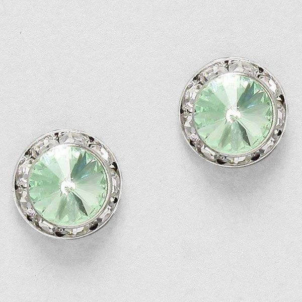 Crystal Lauren Earrings in Chrysolite on Emma Stine Limited