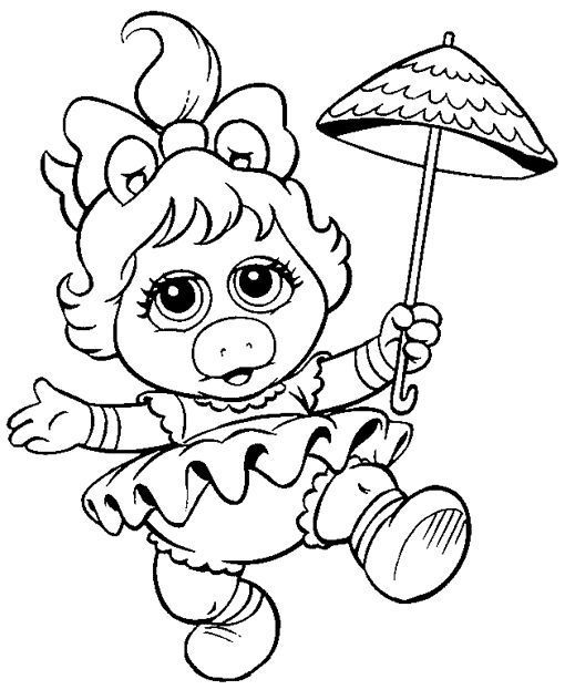 muppet babies printable coloring pages - photo#21
