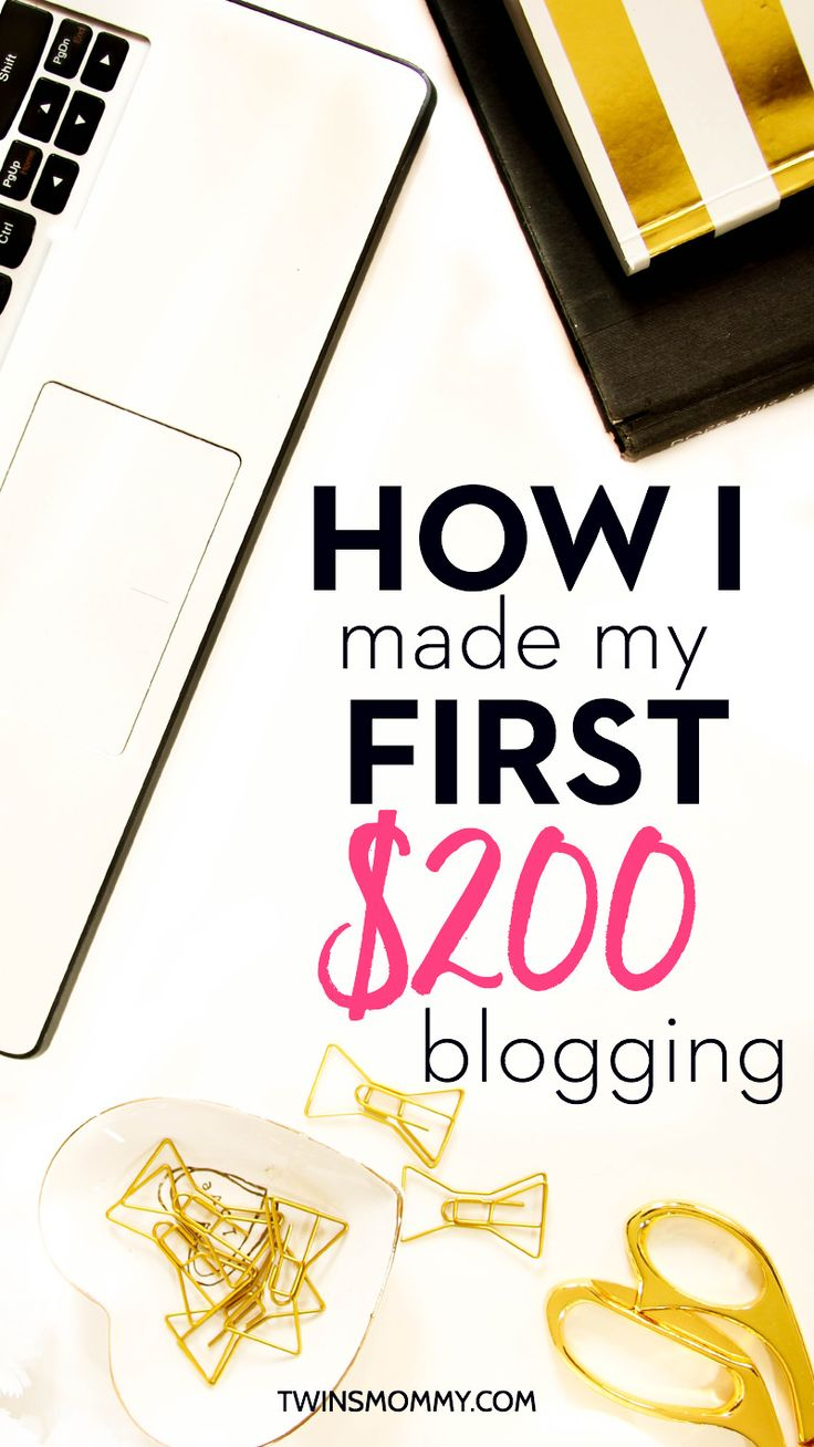 Want to know how to make your first $100 blogging or even your first $200? Making money online doesn't have to be hard! There are easier ways for bloggers to make money online and in this post I share with you  the steps it took to make my first $200. Click to read my tips!