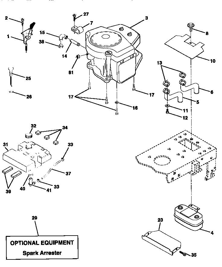 Craftsman 917270810 front-engine lawn tractor parts