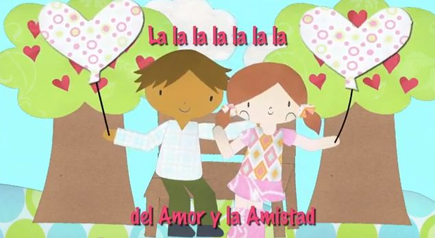 Valentine's video in Spanish and English by Music with Sara -- spanglishbaby.com