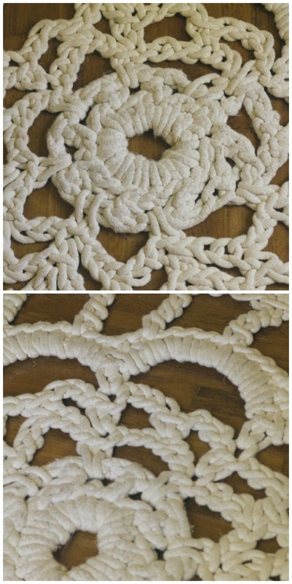 Giant Crochet Doily Rug Free Pattern The Whoot In 2020 Crochet Doily Rug Crochet Rug Doily Rug