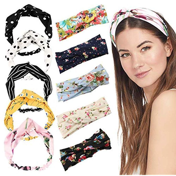 10 Pieces Hairbands Ladies Boho Twisted Headbands Hair Band for Vintage Bows - Fashion #Boho #bows #Women #Fashion # for