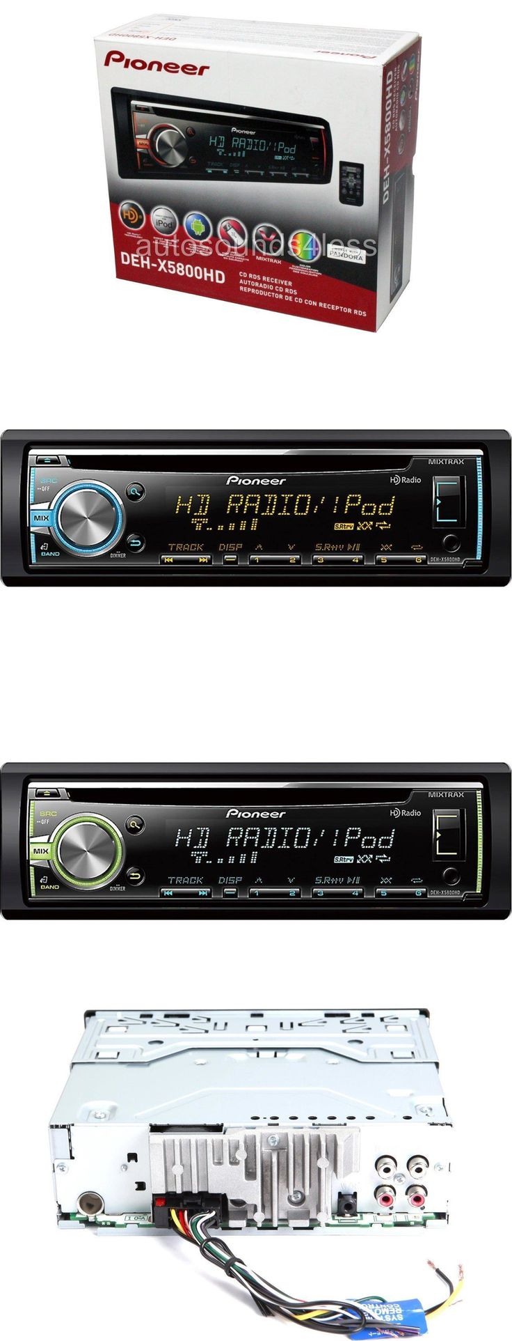 Car Audio In-Dash Units: Pioneer Deh-X5800hd Cd Mp3 Wma Player Hd Radio Pandora Support Front Usb Aux -> BUY IT NOW ONLY: $89 on eBay!