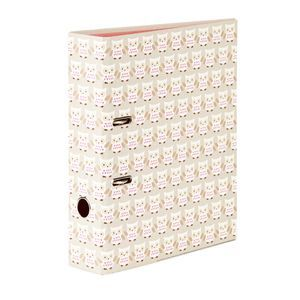 Go Stationery Lever Arch File A4 Taupe Owls