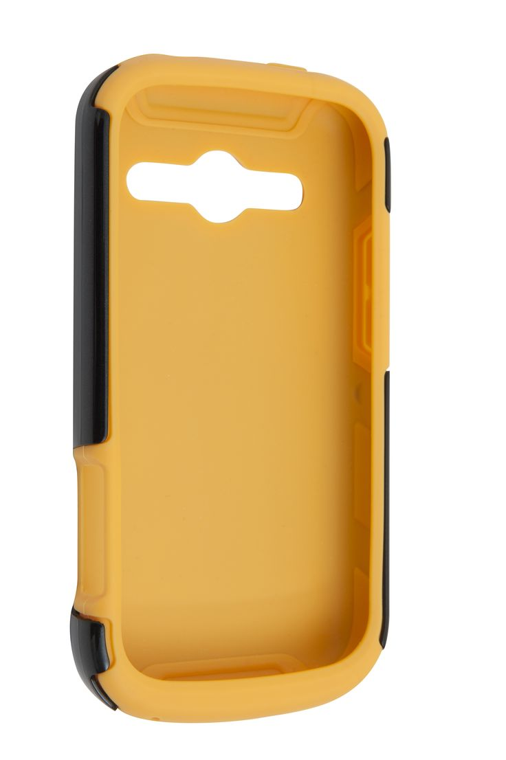 ZTE T83 Dave Tuff Case. Nervous about damaging your new ZTE T83 phone? This is the case for you!   Featuring dual layers of protection this case could save you big time! With a soft yellow silicon interior and a hard black plastic shell this case gives you double the protection when your ZTE T83 phone escapes your grip.