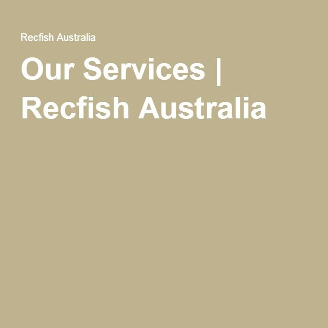 Our Services | Recfish Australia