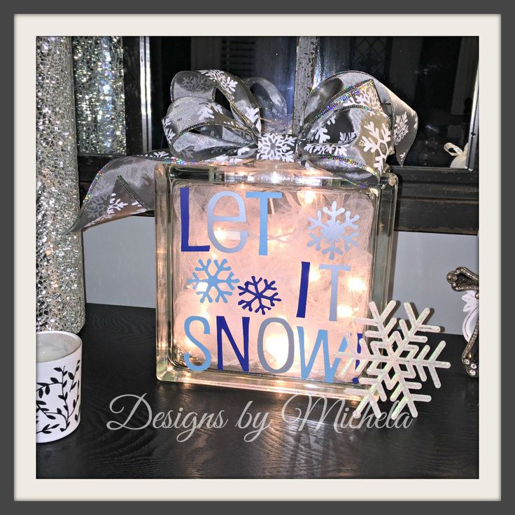 Christmas Let it Snow Light Table Ornament, GR017 - Designs by Michela