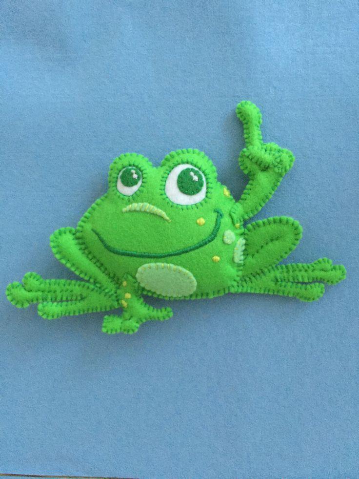 Lottie Dottie Chicken Stinky Feet Frog (Hand-made with felt)