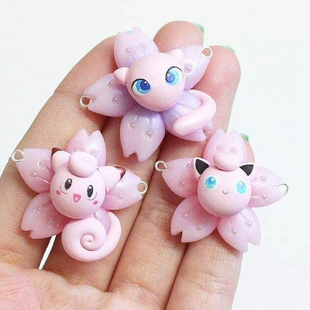 Puffy pokemon @from.jae. who is the cutest????? Just when you thought that they couldn't get any cuter....excellent craft work here!! #jigglypuff #mew #clefairy #clefable #pink #flowers #cute #love #adorable #beautiful #girl #kawaii #sweet #lovely #beauty #puffy #fluffy #candy #cottoncandy #pokemon #nintendo #3ds #pokémon #pkmn #gameboy #anime #pokeball #shiny #art #gamer