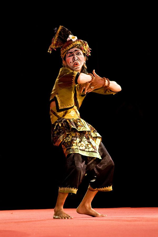A dancer was showing his dance ability on the stage. Looked was funny.