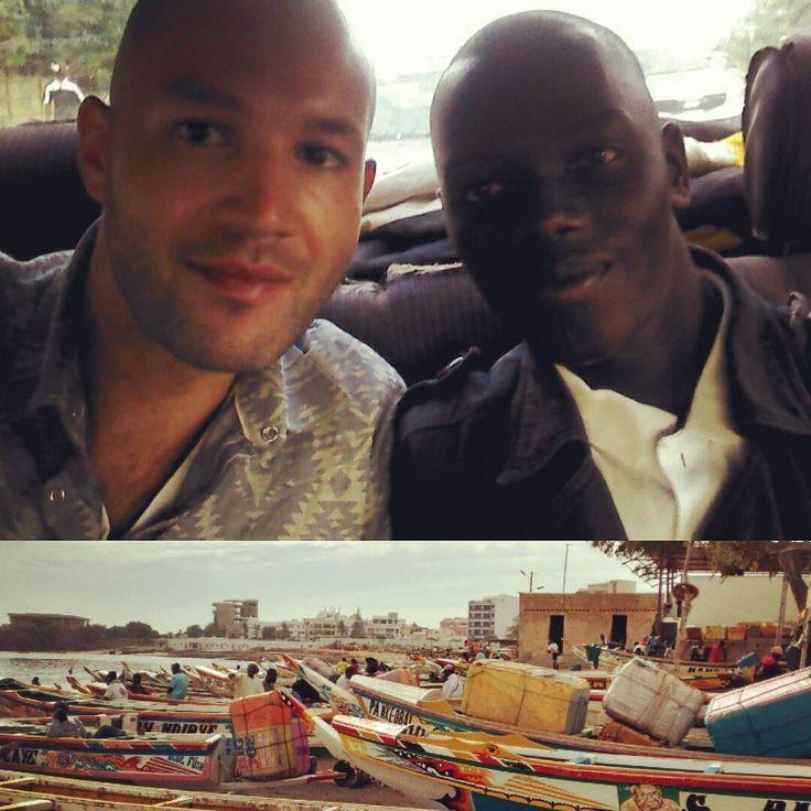 #Senegal #Dakar  Super content de retrouver mon petit frère @MalickBirane après le mémorable #TEKKI48 de 2014!! Direction le marché au poisson populaire de #Soumebedioune pour une mini étude de marche pour @Aywajieune la #startup de mise en relation entre pêcheurs sénégalais et acheteurs :)