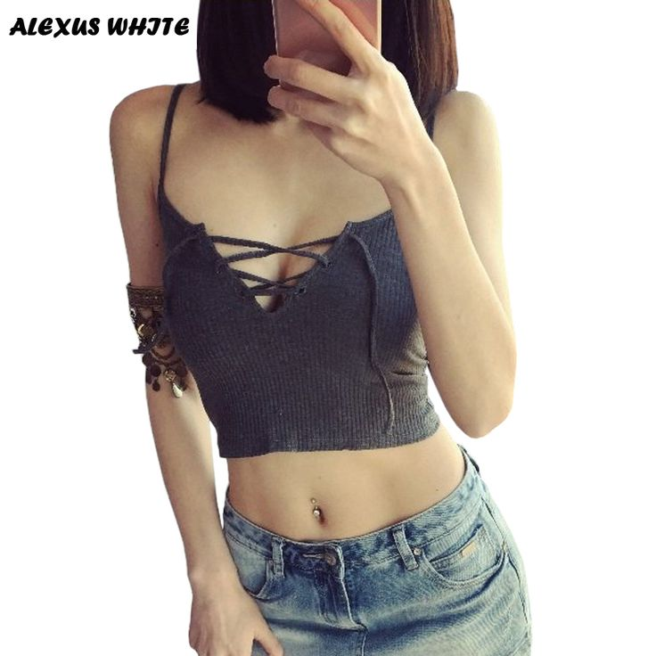 Cheap tank top hoodie, Buy Quality top selling baseball jerseys directly from China tank tops for girls Suppliers: Crop Tops Women 2017 Summer New Womans Short Bralette Low Cut Tanks Top Bandage