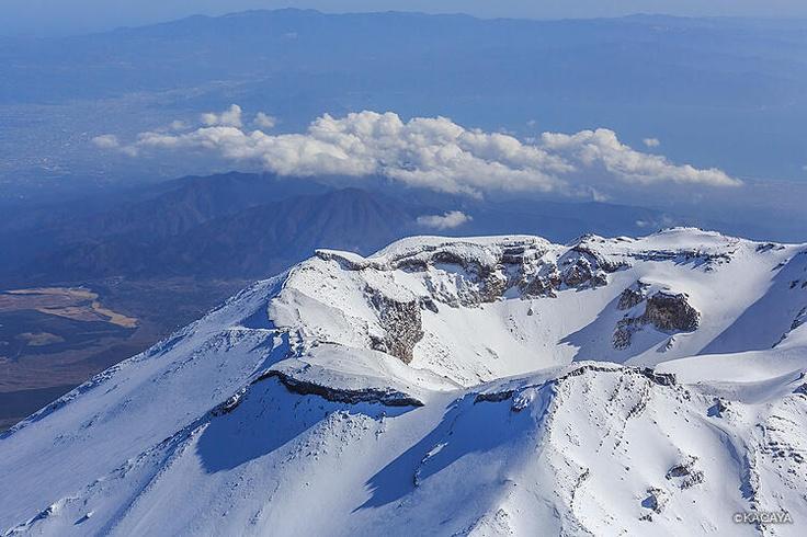 富士山の火口
