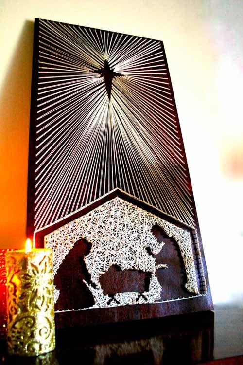 #filorama de un pesebre navideño pesebres caseros hechos con manualidades #christmas #decorations #crafts #diy #pesebre #nativity #navidad #decoracion #manualidades #cuadro #frame