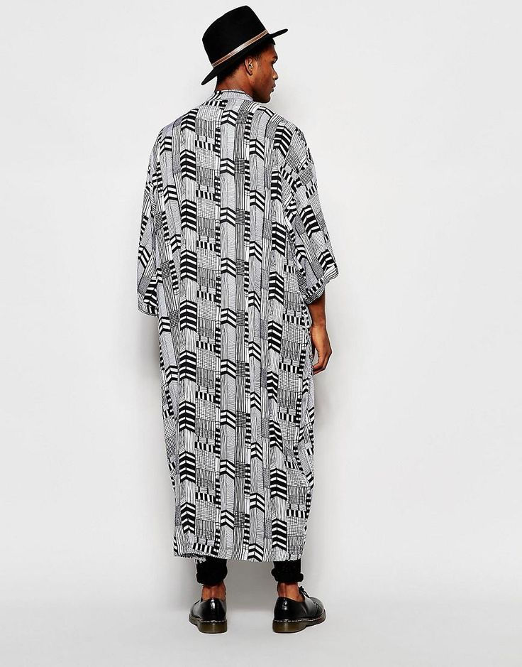 Reclaimed Vintage | Reclaimed Vintage - Kimono long motif flèches chez ASOS
