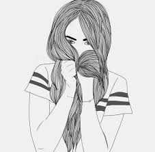 Resultado de imagen de dibujos faciles de chicas tumblr