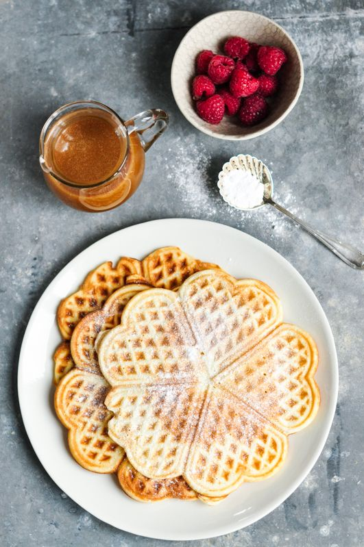 Waffles with Salted Caramel Sauce