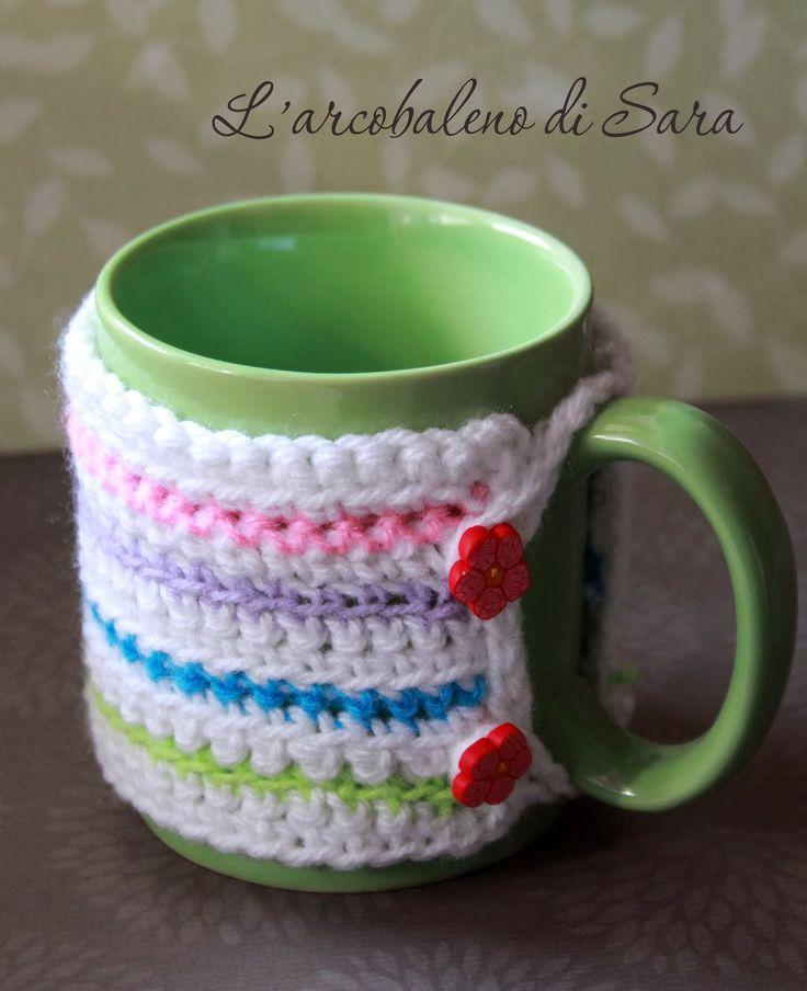 copritazza uncinetto schema Mug cozy pattern