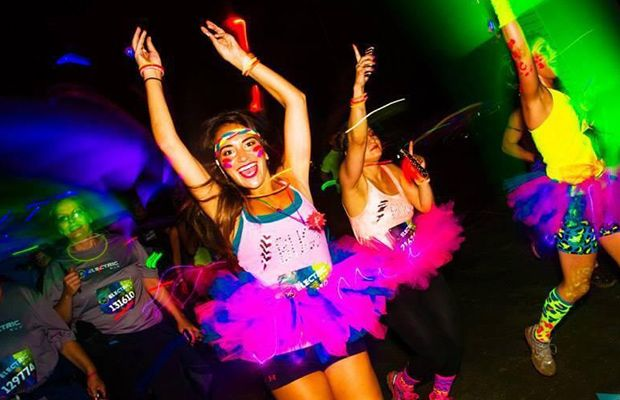 Hate running? It's much more fun when you're wearing neon and LED bracelets for the Electric Run.