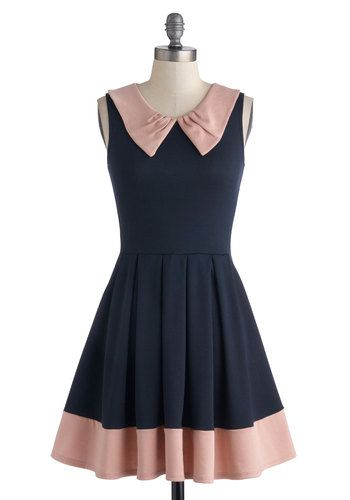 Prose and Contrast Dress in Navy, #ModCloth