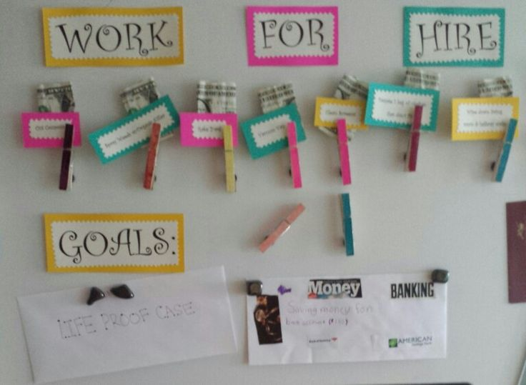 Kids work for hire chart ♡ Goal Savings