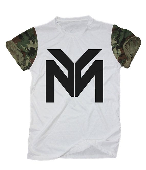 YMCMB Tee Shirt White Camo Camouflage Unisex by WhatsOnYourBody