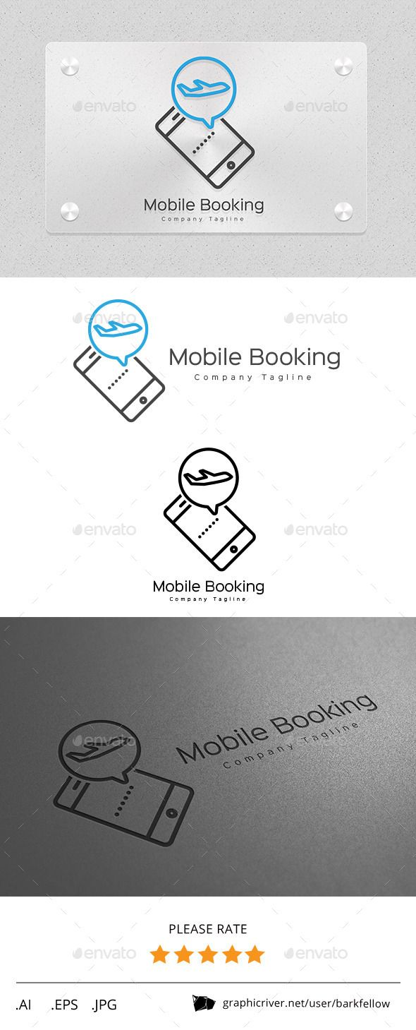 Mobile Online Travel Booking Logo — Vector EPS #ticketing #online • Available here → https://graphicriver.net/item/mobile-online-travel-booking-logo/11257208?ref=pxcr