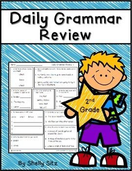 These daily grammar review sheets are a comprehensive review of the Common Core Standards for second grade. They are a great way to make sure your students are getting daily spiral review of the written language conventions for Common Core.