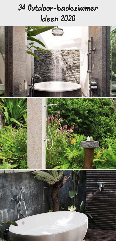 34 Outdoor Badezimmer Ideen 2020 Badezimmer Badideen Freien Gartenideen2020 In 2020 Badezimmer Ideen