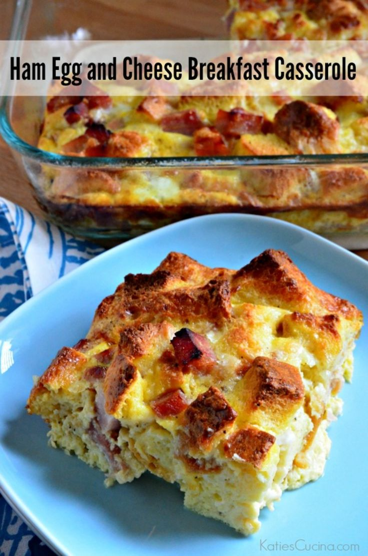 to make -->> Ham Egg and Cheese Breakfast Casserole: Cheese Breakfast ...