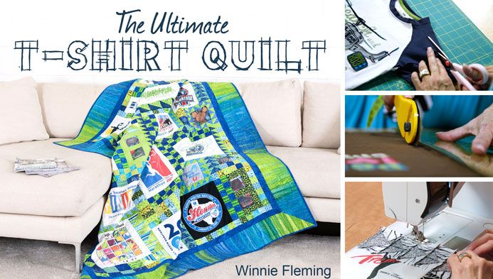 Learn how to turn a stack of T-shirts into a one-of-a-kind quilt that preserves your favorite memories for a lifetime!  - via @Craftsy