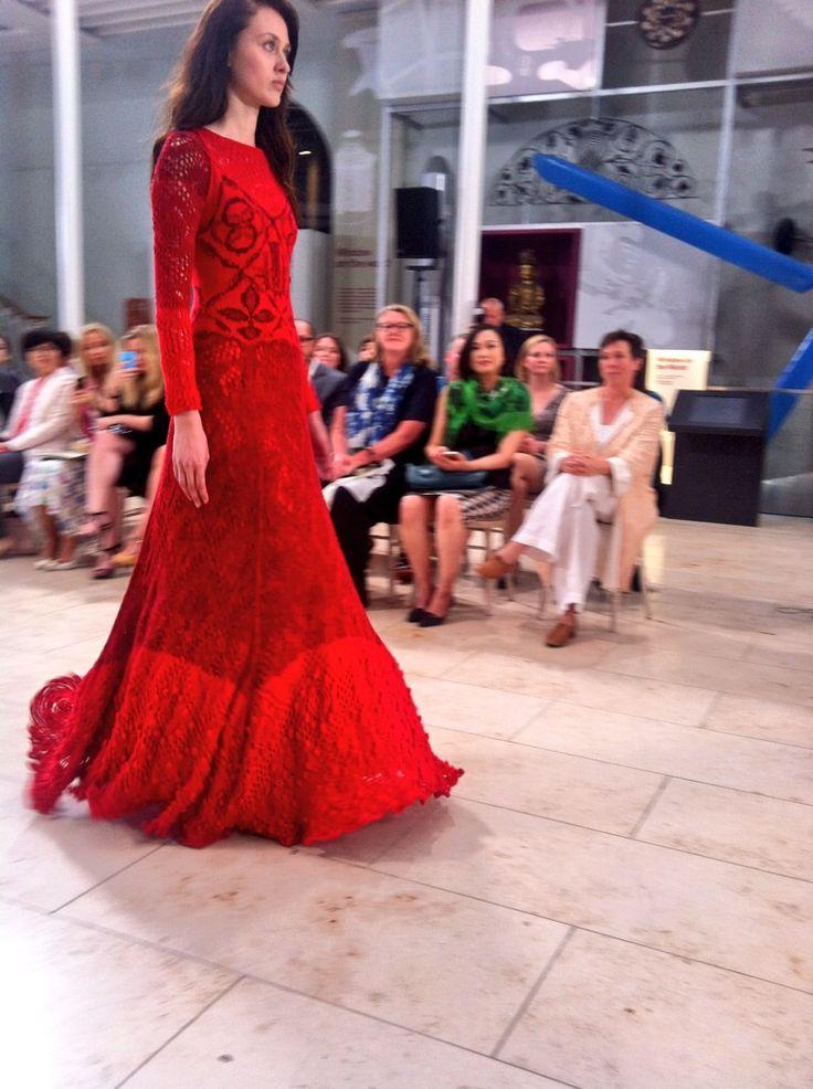 #EIFF #graeme black #DiGilpin #Knitwear #Scottish #Edinburgh #Fashion #Cable #Lace #RedDress
