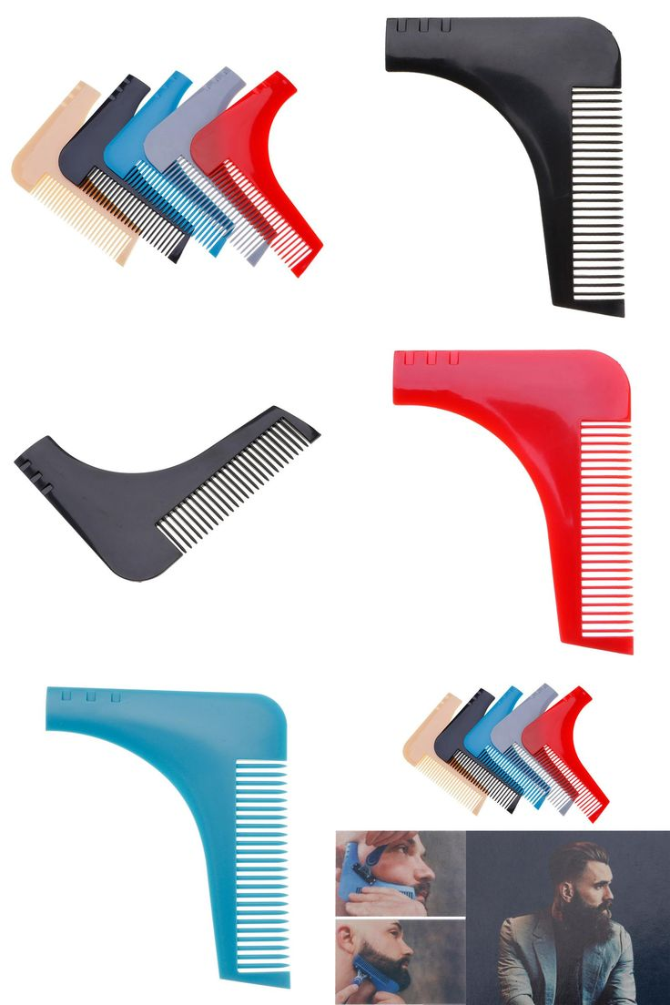 [Visit to Buy] Hot Men Gentleman Facial Hair Beard Shaper Guide Template Combs Styling Accessories Trim Shaping Tool Lines Symmetry #Advertisement