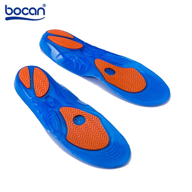 Bocan Gel insoles for Elastic Shock Absorption insoles Sweat Absorbing Protect shoe Insoles Men /Women