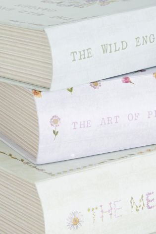 Set Of 3 Floral Book Storage Boxes from Next