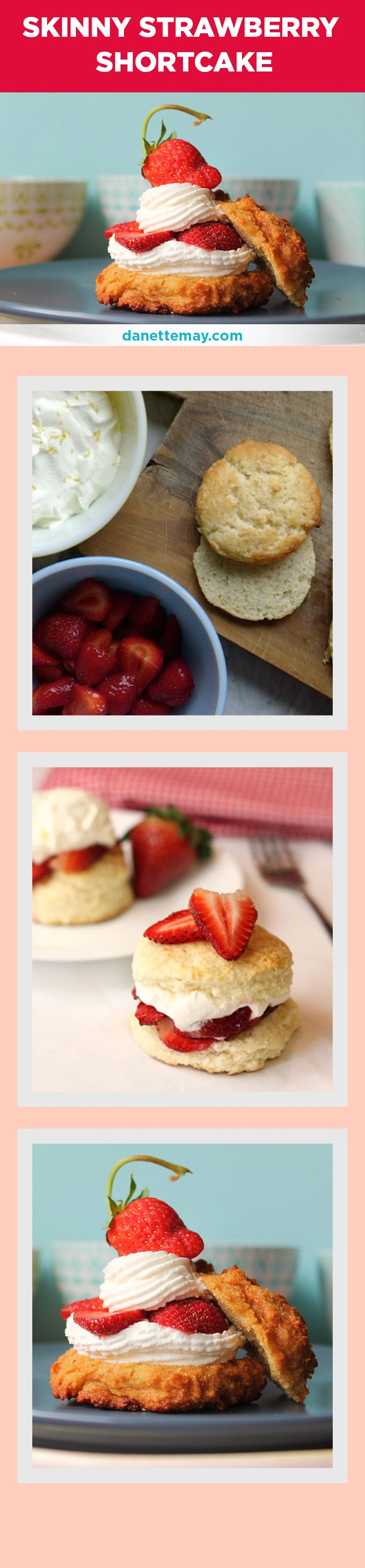 This Skinny Strawberry Shortcake recipe is just in time for strawberry season! (new recipe)  If you want more super quick, super healthy and super yummy recipes like this you should grab my Bikini Body Recipes Book here -> http://www.eatdrinkshrinkplan.com/bikini-body-recipes-offer/index.html