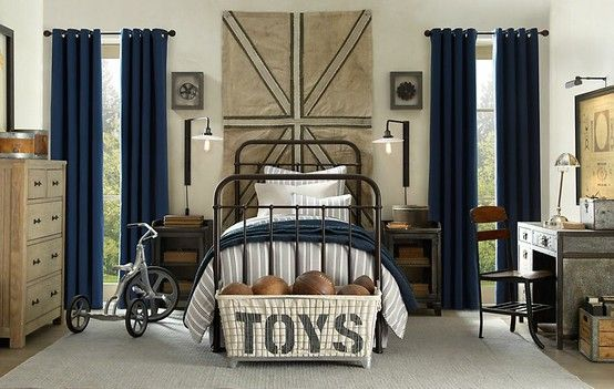 Boy bedroom with an industrial vibe.