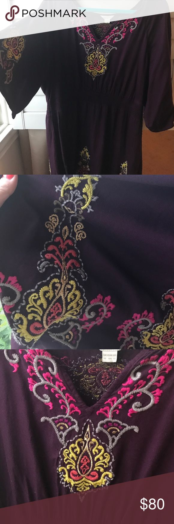 Authentic monsoon dress Embroidered monsoon dress excellent condition trendy dress Monsoon Other