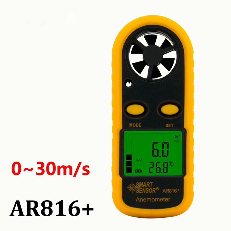 Taiwan Smart Sensor AR816 High quality Pocket Wind Speed Gauge Electronic Anemometer Thermometer Speed Measuring Instrument