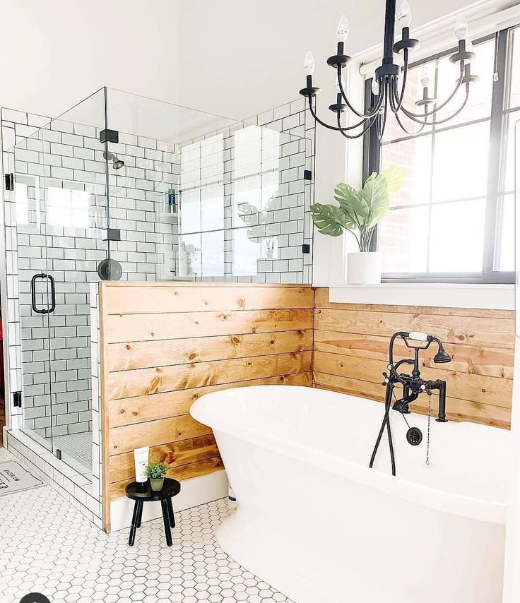 With vanity infront of tub – Home Decor Ideas – Ba…