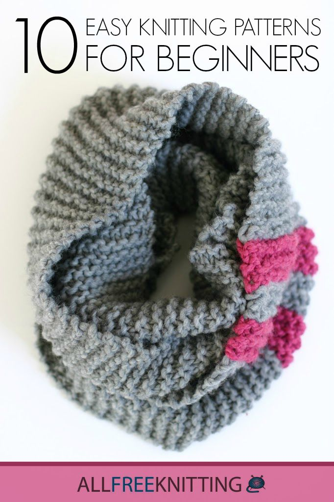 Learn how to knit with 10 Easy Knitting Patterns for Beginners!