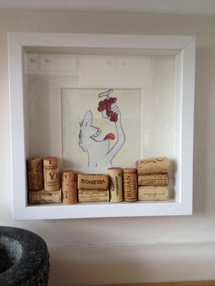 cadre ikea et bouchons de vin cr ation pinterest. Black Bedroom Furniture Sets. Home Design Ideas