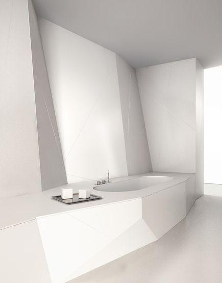 Futuristic white bathroom, Eclettico by Makro