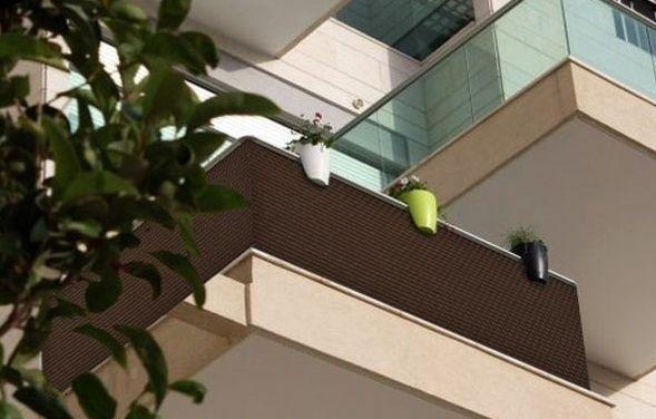Oslona Na Balkon Ogrodzenie Mata Technorattanowa Pod Wymiar Design Uv Rays Rattan