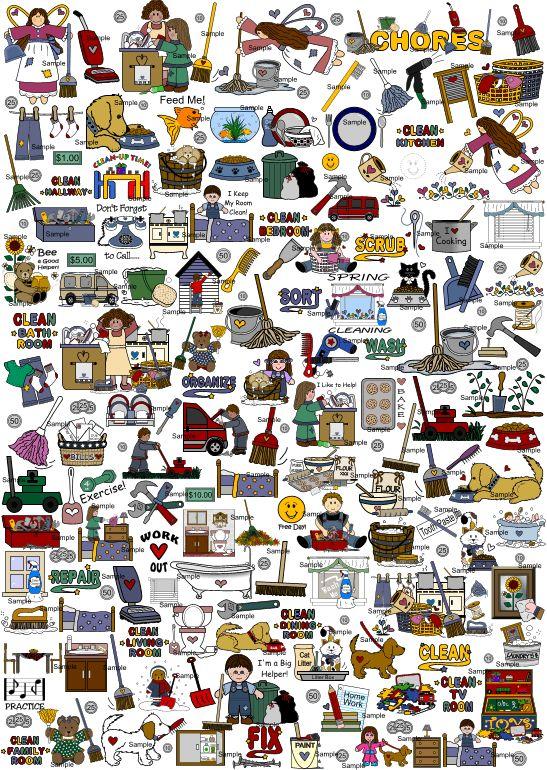 household #chore graphics for kids chore chart