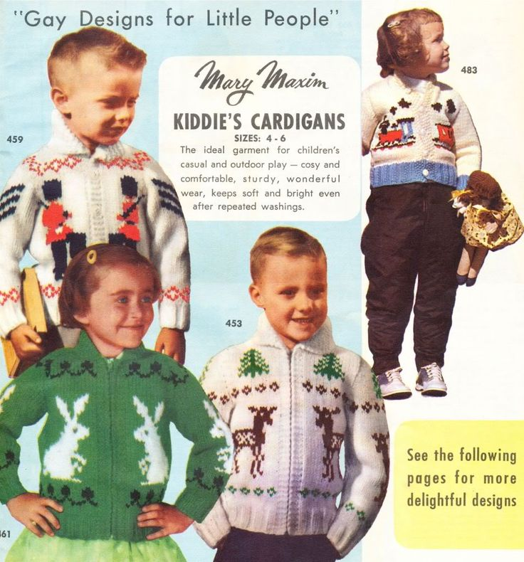 what-i-found: Mary Maxim Sweater Designs - Original Knitting Designs for all the family!