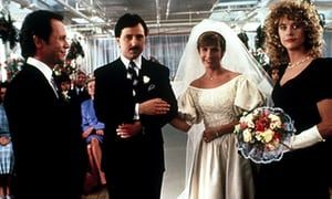 Billy Crystal, Bruno Kirby, Carrie Fisher and Meg Ryan in 1989's When Harry Met Sally