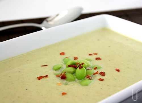 CREAMY GARLIC & EDAMAME SOUP | Recipes to try this week | Pinterest