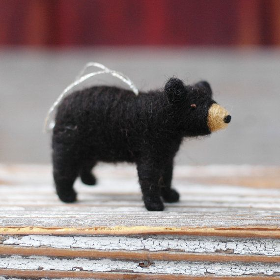NEW for 2013 Small Black Bear Cub  Needle by BossysFeltworks, $25.00